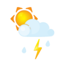 Sun Littlecloud Flash Rain Emoticon