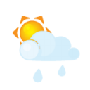 Sun Lightcloud Rain Emoticon