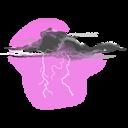 Thunder Shower Emoticon