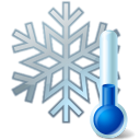 Thermometer Snowflake Emoticon