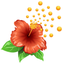 Pollen Flower Emoticon