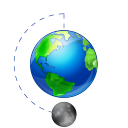 Moon Phase Full Earth Emoticon