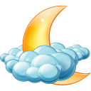 Cloudy Night Emoticon