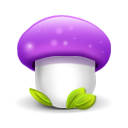 Mushroom Purple Emoticon