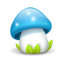 Mushroom Blue Emoticon