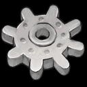 Light Grey Gear Emoticon