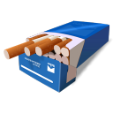 Cigarretes Blue Emoticon