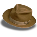 Hat Suede Fedora Emoticon