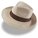 Hat Linen Trilby Emoticon