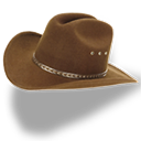 Hat Cowboy Brown Emoticon