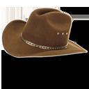 Hat Cowboy Brown Emoticon