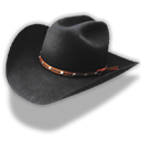 Hat Cowboy Black Emoticon