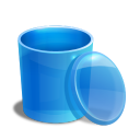 Blue Recycle Bin Empty Emoticon
