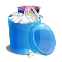 Blue Recycle Bin Emoticon