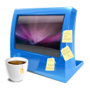 Blue Computer Emoticon