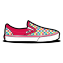 Vans Retro Dots Magenta Emoticon