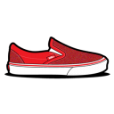 Vans Glitter Red Emoticon