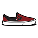 Vans Curls Red Emoticon