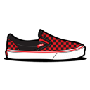 Vans Checkerboard Red Emoticon