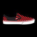 Vans Checkerboard Red Emoticon
