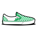 Vans Checkerboard Green Emoticon