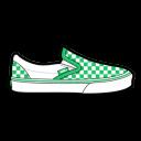Vans Checkerboard Green Emoticon