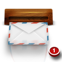 Wood Mail Emoticon