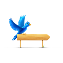 Bird Sign Sparkles Emoticon