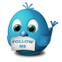 Twitter Follow Me Emoticon
