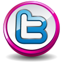 Twitter Round Pink Emoticon