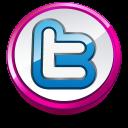 Twitter Round Pink Emoticon