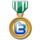 Twitter Medal Green Emoticon
