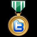 Twitter Medal Green Emoticon