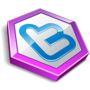 Twitter Hexa Purple Emoticon