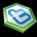 Twitter Hexa Green Emoticon