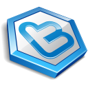 Twitter Hexa Blue Emoticon