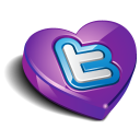 Twitter Heart Purple Emoticon