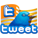 Twitter Flag Gold Emoticon