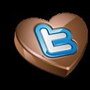 Twitter Chocolate Dark Emoticon