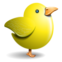Twitter Bird Yellow Emoticon