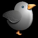 Twitter Bird Grey Emoticon
