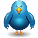 Twitter Bird Front Emoticon
