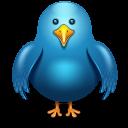 Twitter Bird Front Emoticon