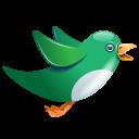 Twitter Bird Flying Green Emoticon