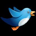 Twitter Bird Flying Emoticon