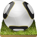 Soccer Ball Grass Emoticon