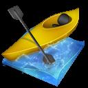 Kayak Slalom Emoticon