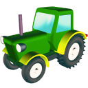 Wheeled Tractor Emoticon