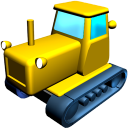 Catterpillar Tractor Emoticon