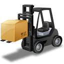 Forklifttruck Loaded Emoticon